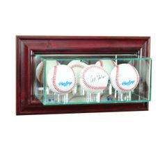 Wall Mount Triple Baseball Glass Display Case