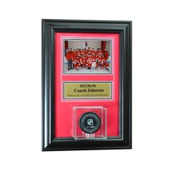 Individual Recognition Award Frame with Hockey Puck Display Case