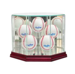 Octagon 5 Baseball Glass Display Case