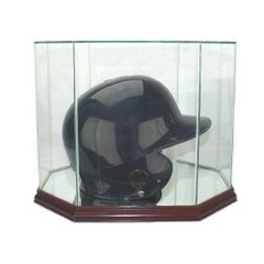 Octagon Batting Helmet Glass Display Case