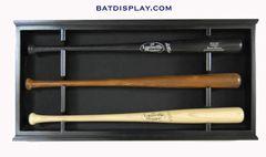Wall Mounted Open Front Baseball Bat Display Case