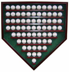 69 Baseball Homeplate Shaped Display Case