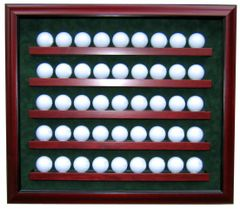 Premium Forty Five Golf Ball Shadow Box with UV protection