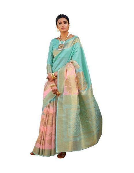 Soft Silk Handloom Weaven Saree (Peach_KS02)