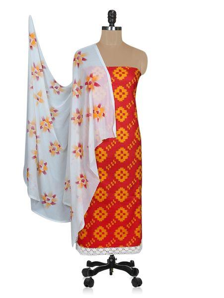 Designer Screen Printed Cotton Shalwar Kameez Dress Material ABP70