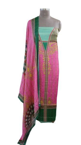 Designer Digital Printed Satin Kurta with Chiffon Dupatta Fabric Only Heer5710