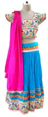 Garba Cotton Chaniya Choli 3 Piece Lehenga Kutchi Work GB09