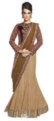 Designer Wedding Partywear Metallic Net Lehenga Saree SC12007