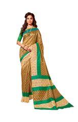 Designer Brown Bhagalpuri Cotton Silk Saree SC3022