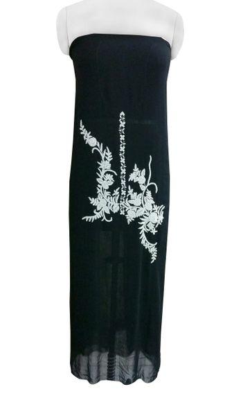 Jaipuri Pearl Hand Work Black Georgette Kurti Kurta Fabric GP50