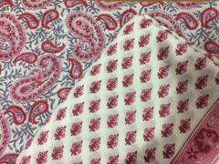 Exclusive Block Printed Kurta Palazo Pant Mughal Butta Fabric Only BP29
