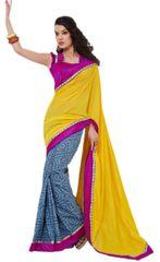 Designer Bhagalpuri Cotton Silk Printed and Lacer Border Saree SC1605