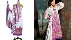 Designer Original Pakistani Sana Samia White Lawn Cotton Dress material SSL4B