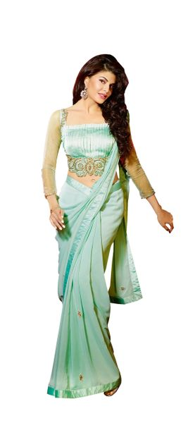 Light Green Georgette Saree Sc10107