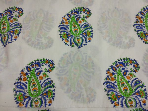 Exclusive Mughal Butta Block Printed Fabric Precut 2.5 meter Material Only BP45S