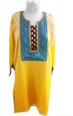 Yellow shaded Chiffon shaded Semi Stitched Kurta