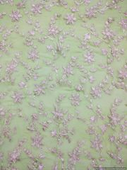 Designer Georgette Light Green Gotta embroidered for Blouse Crop Top Cut 1.2 Meter ( 127 cms )