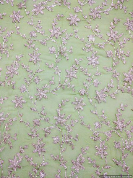 Designer Georgette Light Green Gotta embroidered for Blouse Crop Top Cut 1.2 Meter ( 127 cms )