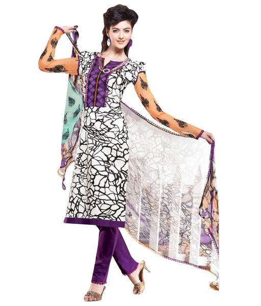 Cotton Purple Salwar Kameez Churidar Fabric SC8143B