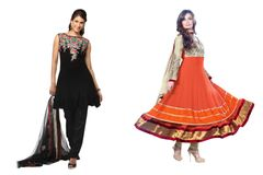 Designer Georgette Embroidered Dress Material Combo Set of Two