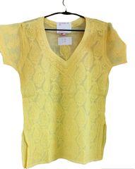 Yellow Cotton Chikankari Lucknowi Top