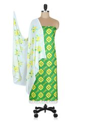 Designer Screen Printed Cotton Shalwar Kameez Dress Material ABP69
