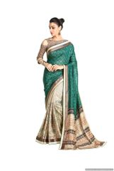 Designer Green Handloom Silk Light Embellished Saree SCMIS06