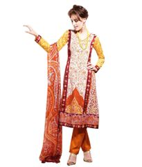 Cotton Rust Salwar Kameez Churidar Fabric SC8142B