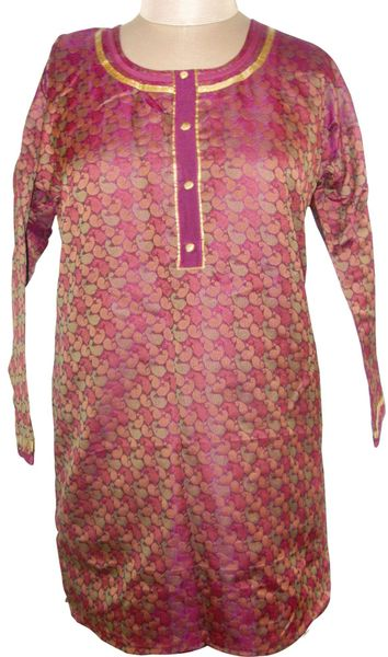 Purple Cotton Jequard Kurta