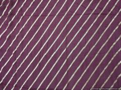 Designer Chinon Wine Zari stripe Embroidered for Blouse Crop Top Cut 1.5 Meter ( 155 cms )