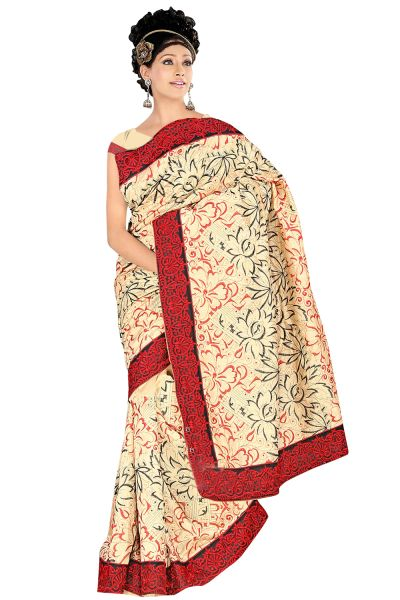 Embroidered Bhagalpuri Cotton Silk Saree SC3116