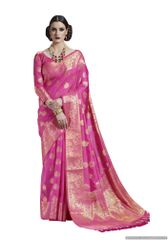 Pink Two Tone Silk Saree