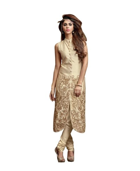 Designer Silk and Crepe Embroidred Dress material With Two Trouser Fabrics
