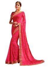Designer Lehariya Jaipuri Style Embellished Georgette Saree S5258