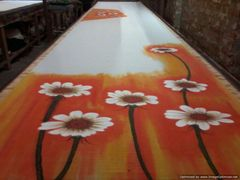Designer Hand Painted Sunflower Motif Kerela Cotton Saree KHP05