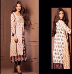 Designer Pakistani Mahi Zara Unstitched Kurti Kurta Embroidered Fabric Only MS4B