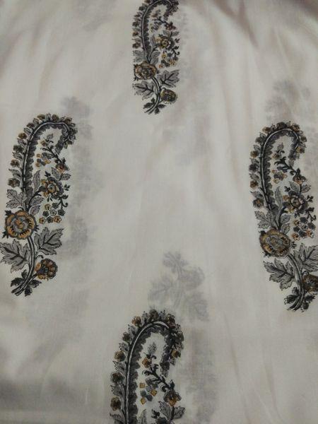 Exclusive Mughal Butta Block Printed Fabric Precut 2.5 meter Material Only BP41S