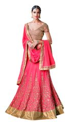 Heavy Wedding Net Pink Lehenga Choli SC5054