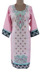 Designer Pakistani Mahi Zara Semi Stitched Embroidered Long Kurta Kurti ZS1B