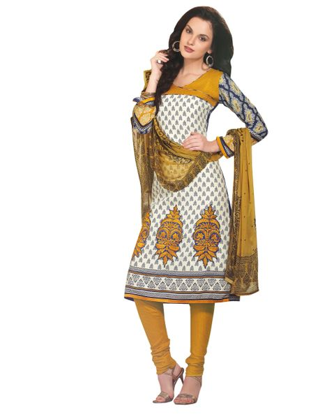 Yellow Winter Pashmina Embroidered Dress Material