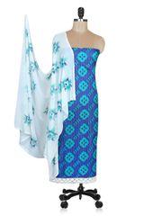 Designer Screen Printed Cotton Shalwar Kameez Dress Material ABP68