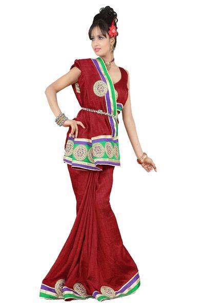 Embroidered Bhagalpuri Cotton Silk Saree SC3108