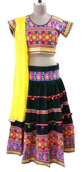 Garba Cotton Chaniya Choli 3 Piece Lehenga Kutchi Work GB11