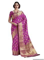 Purple Two Tone Silk Saree