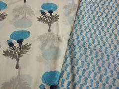 Exclusive Block Printed Kurta Palazo Pant Mughal Butta Fabric Only BP32