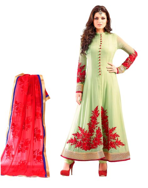 Designer Semi Stitched Sea Green Anarkali SC48009