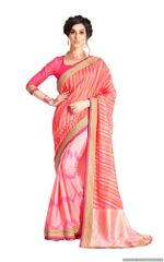 Designer Pink Handloom Silk Light Embellished Saree SCMIS07