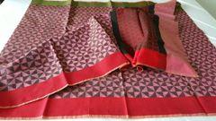Designer Pink Printed Weaven Palla Kota Cotton Saree KCS113