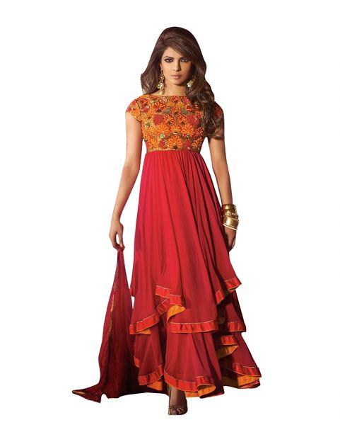 Priyanka Chopra Exclusive Red Anarkali SC5032