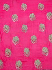 Designer Georgette Magenta Heavy sequin Resham Work Embroidered for Half Saree, Kurta, Lehenga Cut 2.5 Meter ( 259 cms )
